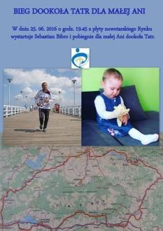 Charytatywny bieg dookoła Tatr dla małej Ani