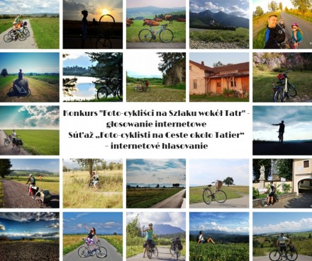 """Konkurs """"Foto-cykliści na Szlaku wokół Tatr"""" - głosowanie internetowe"""
