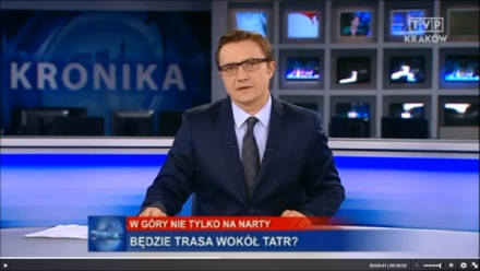 Promocja  Szlaku wokół Tatr na antenie TVP Kraków