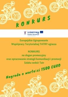 Rozstrzygnięcie konkursu na slogan promocyjny Szlaku wokół Tatr