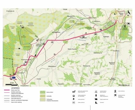 Szczegółowe mapy tras rowerowych wybudowanych w ramach projektu