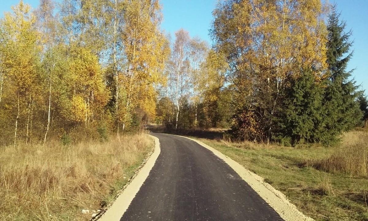 Trasa z parkingu do pętli puścizn i do Podczerwonego w gminie Czarny Dunajec