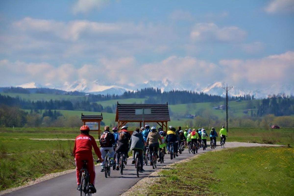 Trasa rowerowa z Ludźmierza do Pyzówki w gminie Nowy Targ