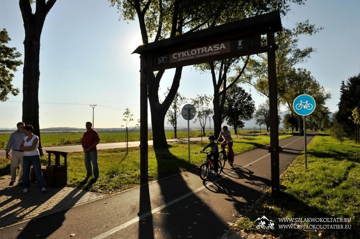 Trasa rowerowa Spišská Belá - Beliansky rybník - Tatranská Kotlina, penzión Limba